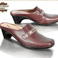 harga sepatu sandal kerja wanita kulit [GOF-203] Tokopedia.com