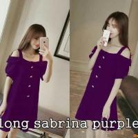 Long sabrina dark purple,dress sexy,fashion wanita,baju online,sale,SR