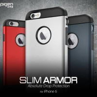 SPIGEN SLIM ARMOR IPHONE 6 PLUS DAN 6S PLUS HARD BACK SOFT CASE HP