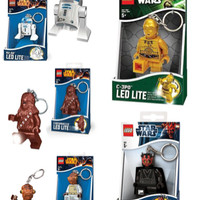 Lego Keychain LED Star Wars Key Chain r2d2 Darth Maul C3PO