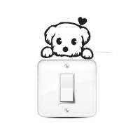 Jual Wallstiker Stiker Saklar Lampu Puppy Dog Hiasan Dinding Tombol Sticker Murah