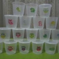 Jual cup puding stiker Murah