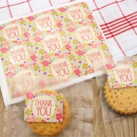 Label Stickers Floral Thank You - Sticker Lucu Unik