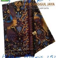 Kain Batik Pekalongan Primisima Halus Hitam Manis 252 Biru Unggul Jaya