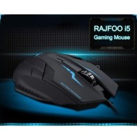 Mouse Murah Game Rajfoo i5 Optical Wired USB Gaming Mouse 1600 DP
