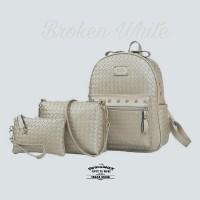 Tas Ransel Backpack Fashion Wanita Korea Tikar Tristan Premium