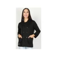 Jaket Wanita / Mantel / Fashion Wanita / Casual / Trendy MKCx346 Black