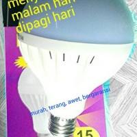 Jual lampu led 15w 220vac sensor cahaya otomatis murah Murah