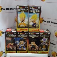DB WCF Battle of Saiyans Vol 1 Set Son Goku Normal & Vegeta Ori misb