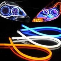 Jual Spextrum LED DRL Flexible 60CM Lampu Alis Motor Mobil Murah