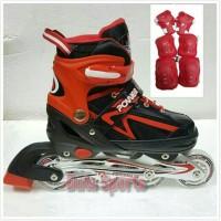 harga Sepatu Roda Anak Harga Murah Powerline 5500+Deker ( Merah ) Tokopedia.com