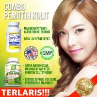 Paket COMBO Ivory Caps Glutathione + BRI Alpha Lipoic Acid, Pemutih