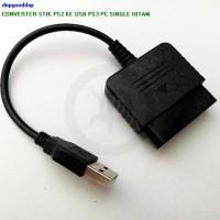 CONVERTER STIK PS2 KE USB PS3 PC SINGLE HITAM