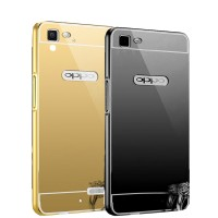 Casing Metal Bumper Mirror For Oppo R5