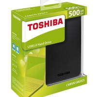 harga Hardisk Eksternal Toshiba Canvio Basic 500GB USB 3.0 Tokopedia.com