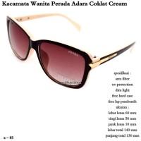 kacamata wanita perada adara coklat - cream fullset