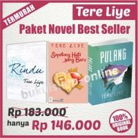 PAKET NOVEL TERE LIYE!! 3 Novel : Pulang, Rindu, Sepotong H