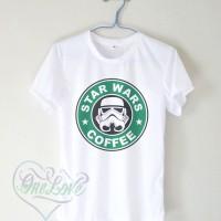 Kaos Star Wars Coffee Starbuck Logo - Kaos Logo