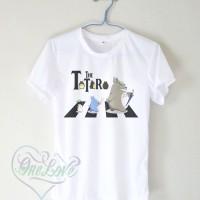 Kaos Funny Totoro The Beatles Logo - Kaos Logo, Studio Ghibli