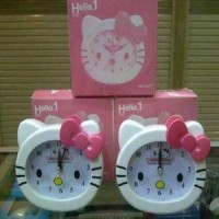 Jam Alarm Kepala Hello Kitty Model 8317