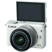 New Kamera Mirrorless Canon EOS M10 White Putih Lensa 15-45mm Garansi