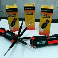 Obeng LED 8 In 1 / Obeng + Senter Multifungsi / Obeng LED Multifungsi