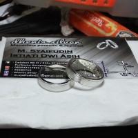 cincin kawin nikah tunangan pasangan couple perak non lapis