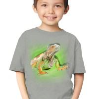 harga Kaos 3d Elengant Murah Kids Iguana Grey Hijau Muda Hijau Tua Kuning Tokopedia.com