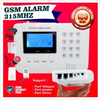 HOME SECURITY GSM ALARM SYSTEM 315 Mhz PENGAMANAN RUMAH TOKO KANTOR PA