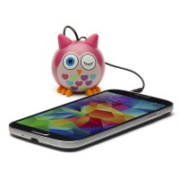 harga Speaker Mini Portable Optimuz Karakter Burung Hantu - Pink Tokopedia.com