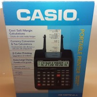 Portable Kalkulator Printer CASIO HR-100TM Kalkulator Kasir