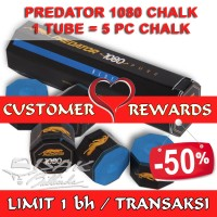 Customer Rewards - 5 pc Predator Billiard Chalk - Hadiah Pelanggan