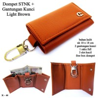 Dompet gantungan kunci / STNK A light brown
