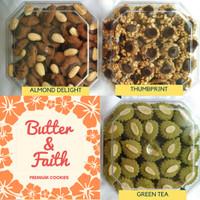 Kue Kering - Cookies Lebaran (Thumbprint, Cheese Basket, Putri Salju, kastengel, Nastar Blueberry, Green Tea)