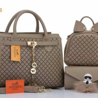 Tas Wanita Tas Hermes Party 3in1 Tas Branded Replika Import