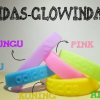 WRISTBAND ADIDAS GLOW IN THE DARK GELANG KARET SILICONE NIKE NBA