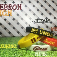 WRISTBAND LEBRON JAMES MVP SIGN BASKET NBA GELANG KARET ADIDAS NIKE