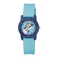 Jam tangan balita QnQ ori VR41J008Y ori garansi toko full biru analog