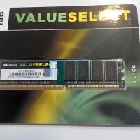 Jual Memory PC DDR1 1 GB` NEW` Corsair Kingston V-GeN Visipro` RAM DIMM DDR Murah