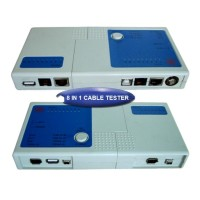 CABLE TESTER 8 IN 1 - RJ45 RJ11 BNC USB A-B USB A-A 1394 4-4 6-6 6-4