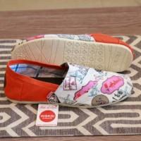 harga Sepatu Wanita Wakai Slip On Motif Lukis Casual Santai Flat Shoes #3 Tokopedia.com