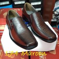 harga Sepatu Pantofel PDH Kulit Sapi Asli Warna Merah Maroon Kode 3 Maroon Tokopedia.com