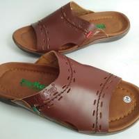 harga Sendal Kulit Pria Kickers Premium KK02 Tokopedia.com