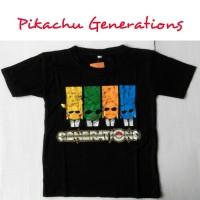 Baju Anak Atasan Tee Spandek Kaos Pokemon Go Pikachu Generations
