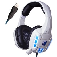 [SADES] 718S USB Stereo PC Gaming Headphones with Mic & Vibration LED