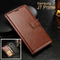 Wallet Case Samsung J7 Prime 2016 Premium Leather