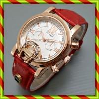 Jam Tangan Aigner Bari Romawi Kulit Merah   Wanita Fashion Guess Guc