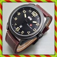 Swiss Army 8044 Kulit Coklat Tua   Tanggal Reddington Naviforce