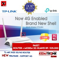 PAKET TP-LINK TL-MR 3420 Router 4G/3G+Modem Huawei E-173 TPLINK MR3420