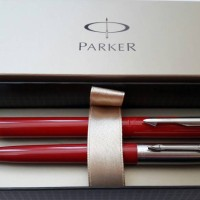 Jual Paket Parker Red Beauty: 1 pcs Jotter BP + 1pcs Vector Standard RB Murah